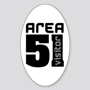 Area 51 Alien Visitor Sticker (Oval)