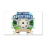 Lost Island Adventures Car Magnet 20 x 12
