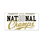 2010 National Champs Aluminum License Plate