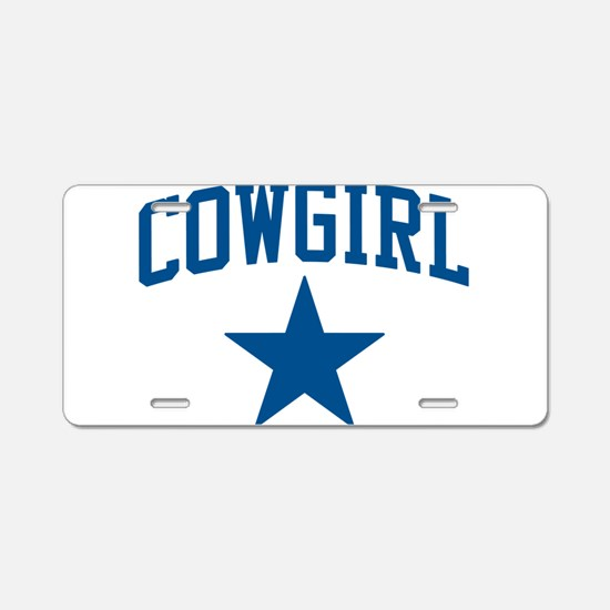Cowgirl Aluminum License Plate