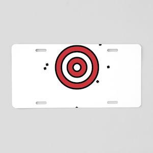 Target Practice Aluminum License Plate