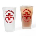 Shock Trauma Drinking Glass