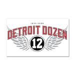 The Detroit Dozen Car Magnet 20 x 12