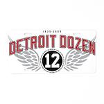 The Detroit Dozen Aluminum License Plate