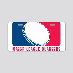 Major League Quarters Aluminum License Plate