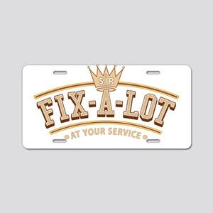 Sir Fix-A-Lot Aluminum License Plate