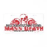Mass Deathtruction Aluminum License Plate