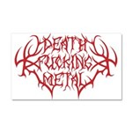 Death F'ing Metal Car Magnet 20 x 12