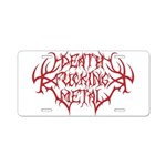 Death F'ing Metal Aluminum License Plate