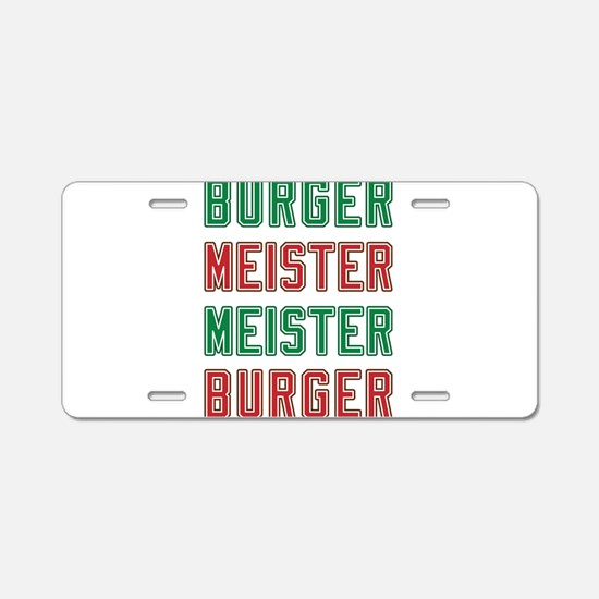 Burger Meister Meister Burger Aluminum License Pla