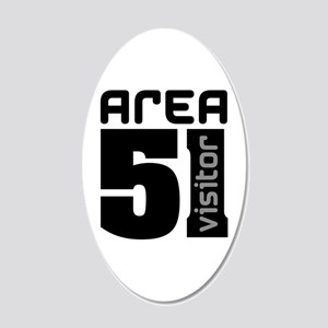 Area 51 Alien Visitor 22x14 Oval Wall Peel