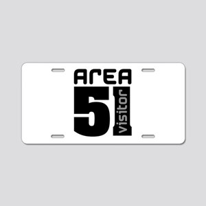 Area 51 Alien Visitor Aluminum License Plate