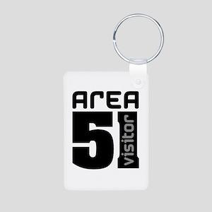 Area 51 Alien Visitor Aluminum Photo Keychain