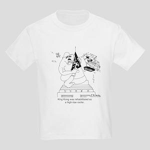 King Kong As A Roofer Kids Light T-Shirt