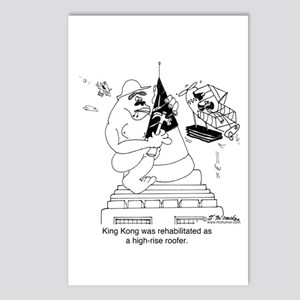King Kong As A Roofer Postcards (Package of 8)