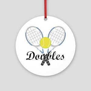 Tennis Doubles Ornament (Round)