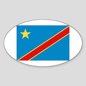 Democratic Rep. Congo Flag Oval Sticker