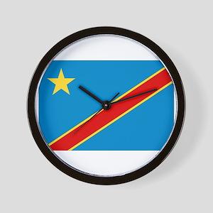 Democratic Rep. Congo Flag Wall Clock