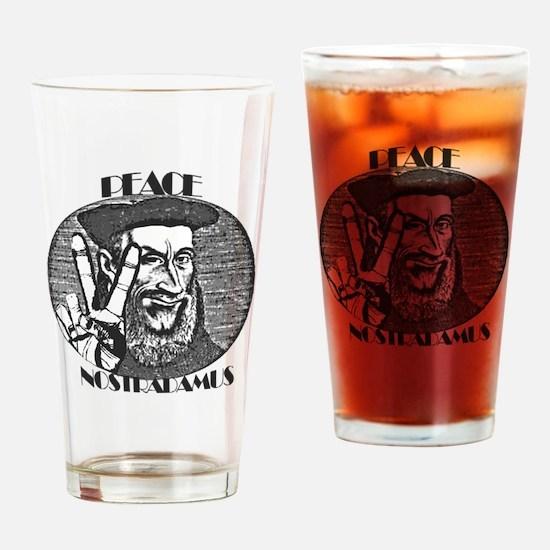 PEACE-NOSTRADAMUS Drinking Glass