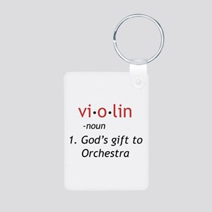 Definition of a Violin Aluminum Photo Keychain