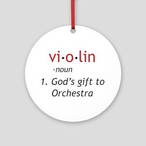 Definition of a Violin Ornament (Round)