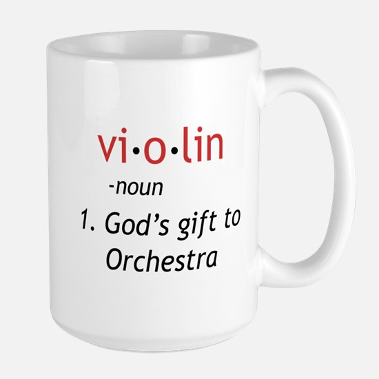 Definition of a Violin Large Mug