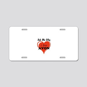 AVON Kiss Aluminum License Plate