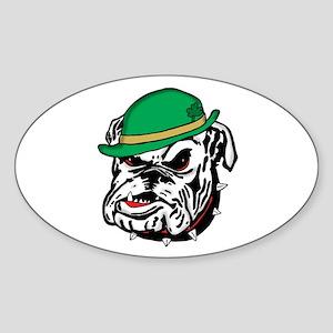 Irish Bulldog Sticker (Oval)