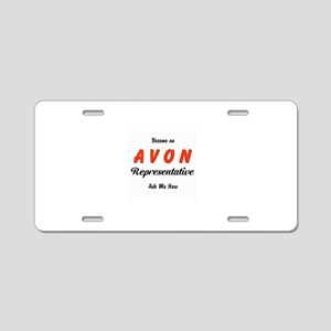 Become an Avon Rep Aluminum License Plate