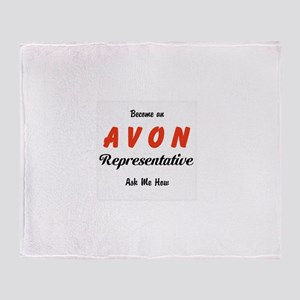 Become an Avon Rep Throw Blanket