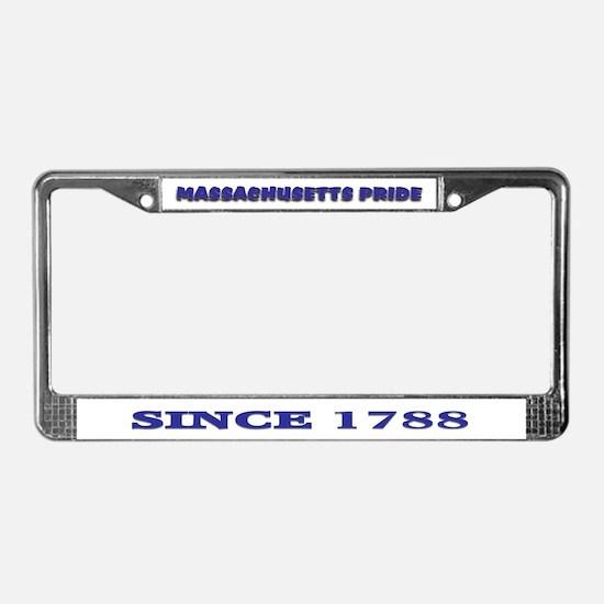 Massachusetts Pride License Plate Frame
