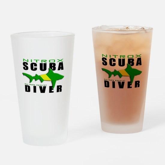 Scuba Diver: Nitrox Shark Drinking Glass