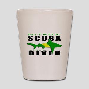 Scuba Diver: Nitrox Shark Shot Glass