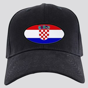 Croatian Flag Black Cap