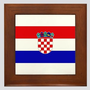 Croatian Flag Framed Tile