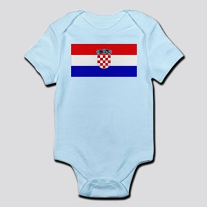 Croatian Flag Infant Creeper