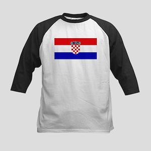 Croatian Flag Kids Baseball Jersey