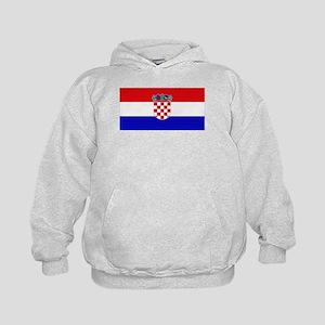 Croatian Flag Kids Hoodie