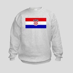 Croatian Flag Kids Sweatshirt