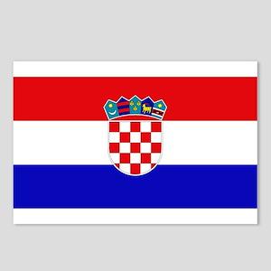 Croatian Flag Postcards (Package of 8)