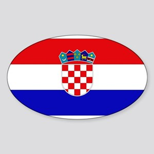 Croatian Flag Oval Sticker