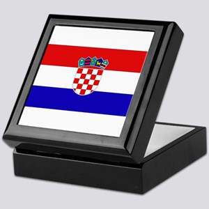 Croatian Flag Keepsake Box