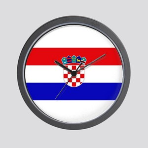 Croatian Flag Wall Clock