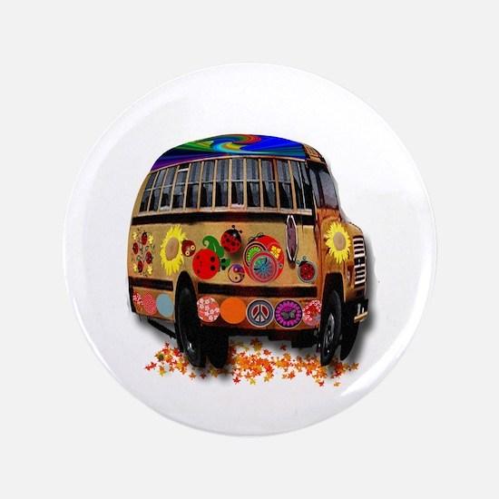 "Ladybug bus 3.5"" Button"