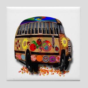 Ladybug bus Tile Coaster