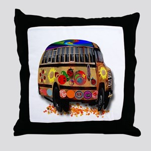 Ladybug bus Throw Pillow