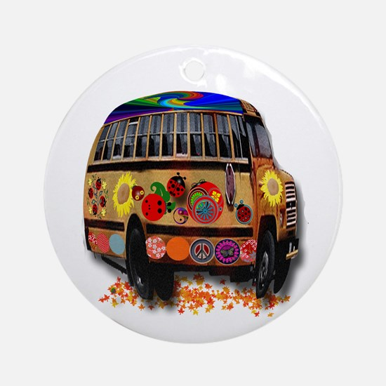 Ladybug bus Ornament (Round)