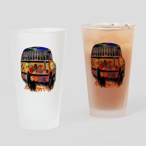 Ladybug bus Drinking Glass