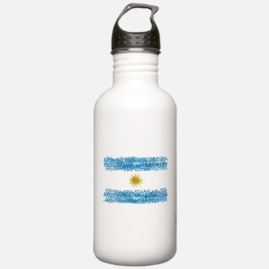 Textual Argentina Water Bottle