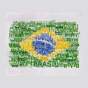 Textual Brasil Throw Blanket